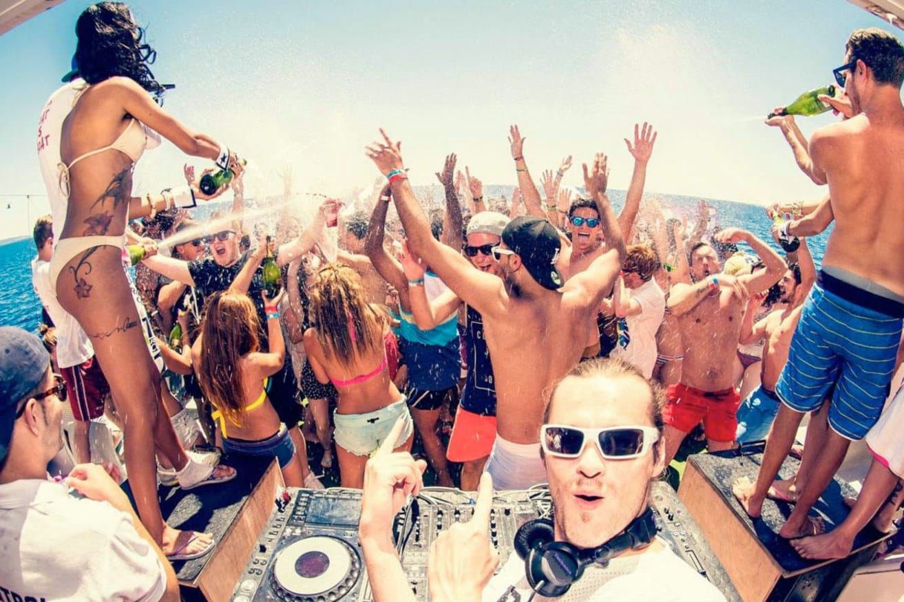Image result for boat party barcelona