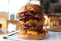 A huge burger