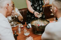 Speakeasy Table & Drinks Package The Dead Canary Punch Bowl