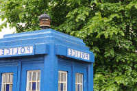 Doctor Who Cardiff Walking Tour flipped image doctor who police box