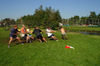 Highland Games stag group tug of war