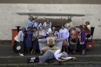 Pedal Party Tour hen group dress up