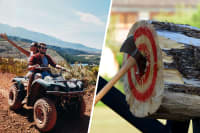 axe throwing and quad biking