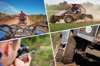 multi activity day quad trekking air rifle and razor buggy