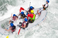 White Water Rafting female mixed group