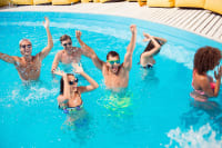 Group of friends at pool party