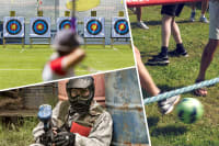 multi activity day archery paintball and human football