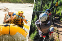 multi choice white water rafting and zip lining flip