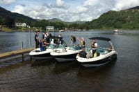 Loch Lomond Leisure Scotland - group boarding speedboats