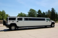 A white hummer limo