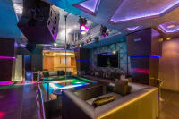 Interior of a lap dance club