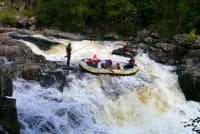 A group white water rafting Freespirits Edinburgh