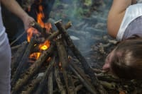 Bear Grylls survival training fire