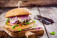 A delicious looking burger
