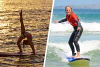 Yoga & Surfing hen