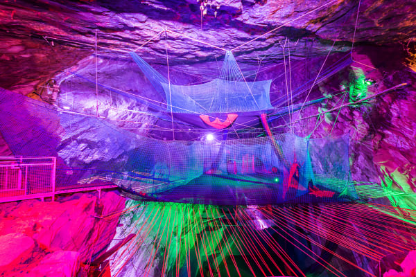 Cave trampolining