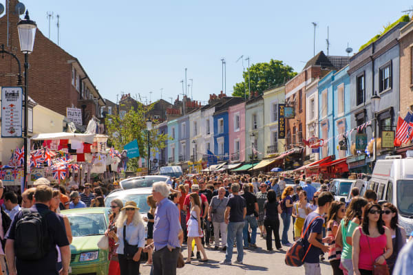 Portobello Road Market London **editorial**