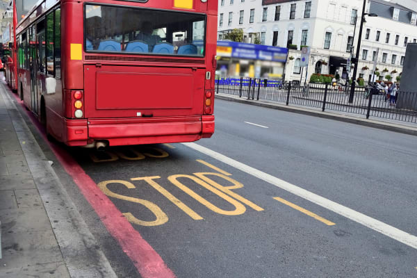 london bus stop meeting point