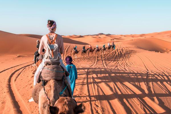 Dubai desert camel ride