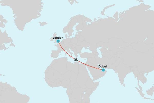 Flight London to Dubai