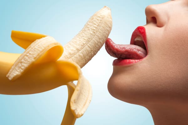 Seduction Girl with Banana