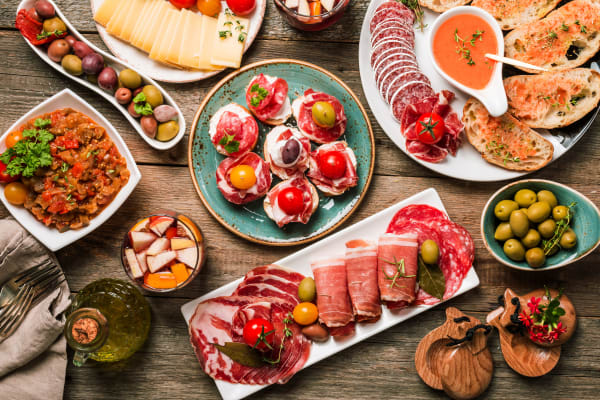 A delicious selection of tapas