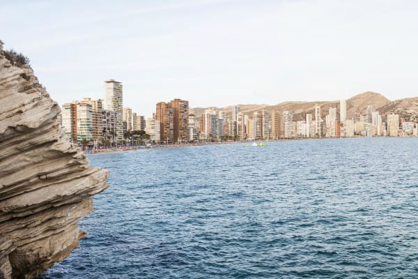 Benidorm sea and skyline