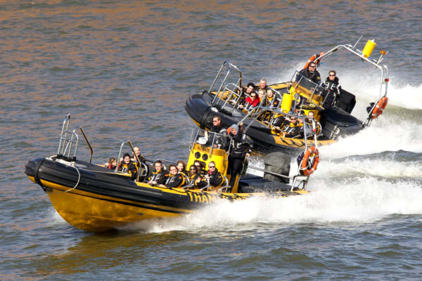 A high speed rib speedboat ride