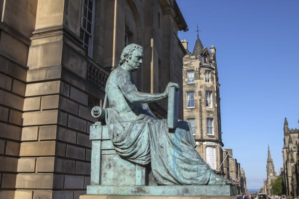 David Hume Statue Edinburgh
