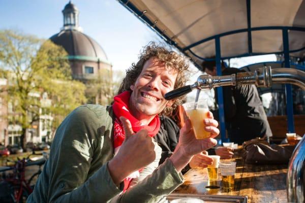 stag group beer bike Amsterdam