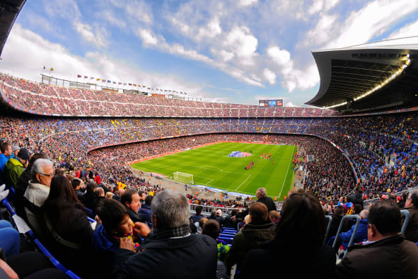 *EDITORIAL USE*  A general view of the Camp Nou Stadium, Barcelona